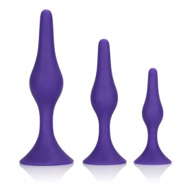Booty Call Booty Trainer Kit Purple Butt Plugs Set of 3