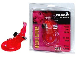 Rabbit Cock & Ball Ring with Clit Stimulator