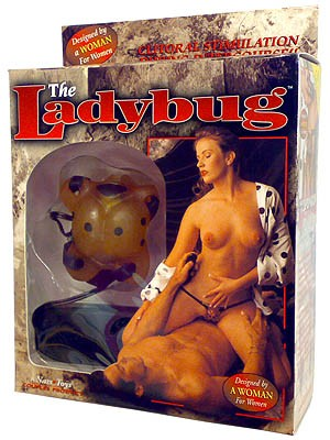Ladybug Gold Vibrating Strap-On Stimulator