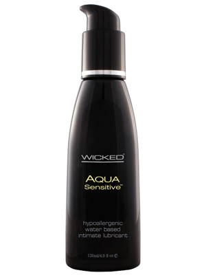 Wicked Aqua Sensitive Water Based Lubricant 120ml Bottle