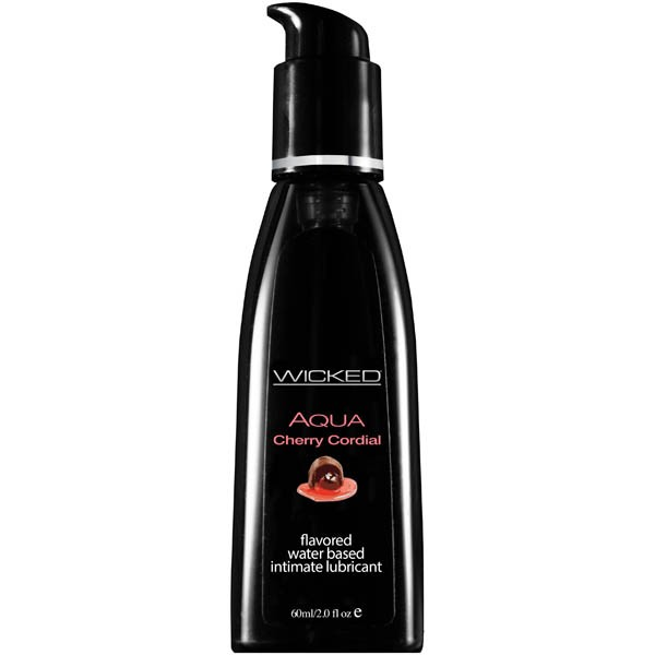 WICKED AQUA CHERRY CORDIAL 60ml Water Based Lubricant