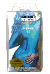 Four Seasons Naked Shiver Condoms 6 Pack