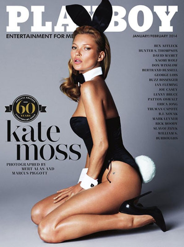 PLAYBOY JANUARY/FEBRUARY 2014 KATE MOSS 60th Anniversary