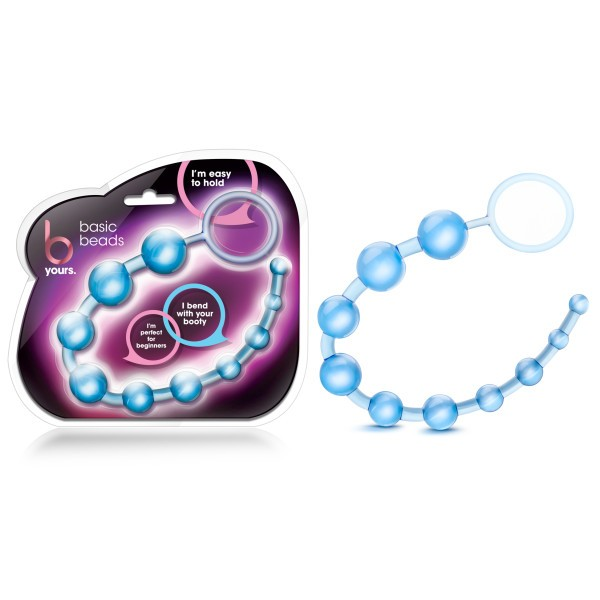 B Yours Basic Anal Beads Blue