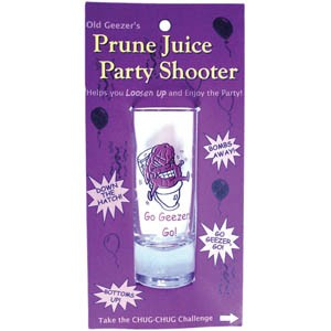 Prune Juice Party Shooter Shot Glass