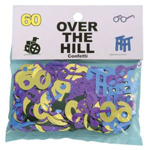 Over The Hill Confetti 60th Birthday Party