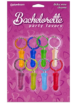 Bachelorette Party Dicky Wine Charms