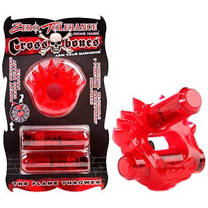 Crossbones The Flame Thrower Vibrating Cock Ring