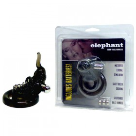 Elephant Cock & Ball Ring with Clit Stimulator