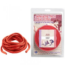 Japanese Silk Love Rope Red 3m