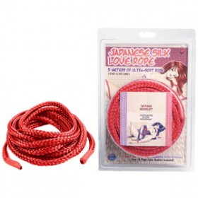 Japanese Silk Love Rope Red 5m