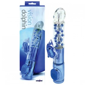 Vision Dolphin Pearl Vibrator with Clit Stimulator
