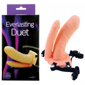 Everlasting Duet Flesh Strap-On with Double Penetrator