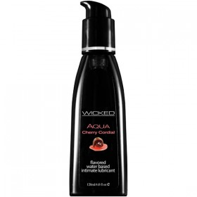 WICKED AQUA CHERRY CORDIAL 120ml Water Based Lubricant