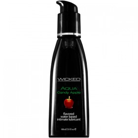 Wicked Aqua Candy Apple Flavoured 60ml Water Based Lubricant