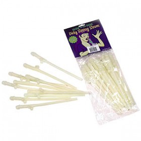 Dicky Sipping Straws Glow in the Dark Set of 10