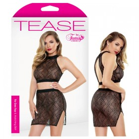 Tease Tia Geo Top & Matching Skirt S/M