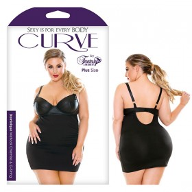 Curve Dominique Wetlook Chemise & G-String - 1X/2X