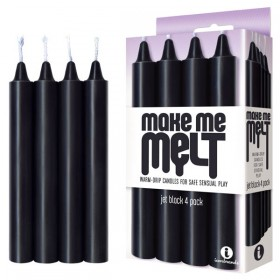Make Me Melt Drip Candles Black 4 Set