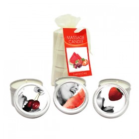 Edible Massage Candle 3 Set Cherry, Strawberry & Melon Flavoured