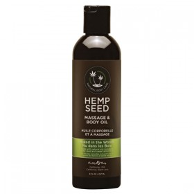 Hemp Seed Massage & Body Oil Naked In The Woods Scented 237ml Bottle