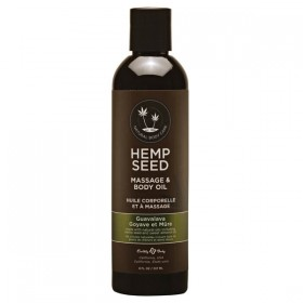 Hemp Seed Massage & Body Oil Guavalava Scented 237ml Bottle