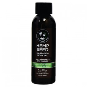 Hemp Seed Massage & Body Oil Naked In The Woods Scented 59ml