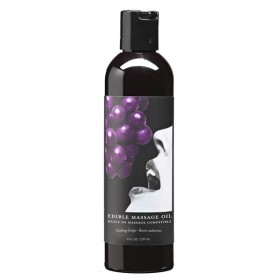 Edible Massage Oil Gushing Grape Flavoured 237ml Bottle