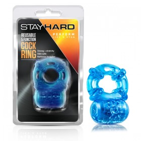 Stay Hard Reusable 5 Function Cockring Blue