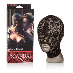 Scandal Lace Hood Black Mask
