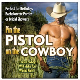 Pin The Pistol On The Cowboy Hens Party Game