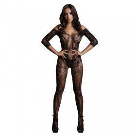 LE DESIR Lace Sleeved Body Stocking One Size