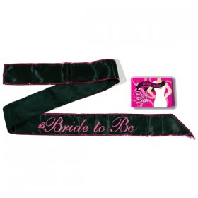 Bride-To-Be Black Hen's Party Sash