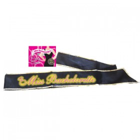 Bride-To-Be Black Sash Glow in the Dark Hen's Party