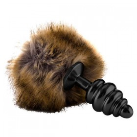 Ouch! Extra Feel Bunny Tail Buttplug - Black