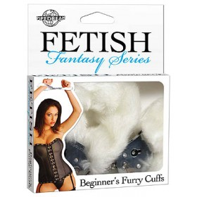 Beginner's Furry Cuffs White