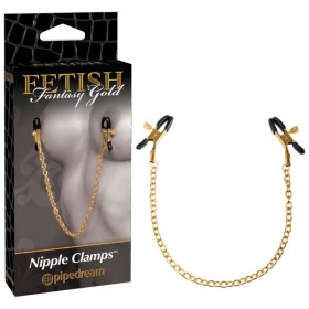 Fetish Fantasy Gold Chain Nipple Clamps