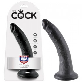 "King Cock 7"" Dong Black"