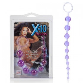X-10 Anal Beads Purple 11''