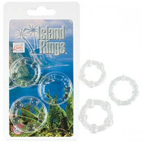 Island Rings Clear Set of 3
