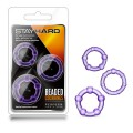 Stay Hard Beaded Cockrings Purple Cock Rings - Set of 3 Sizes